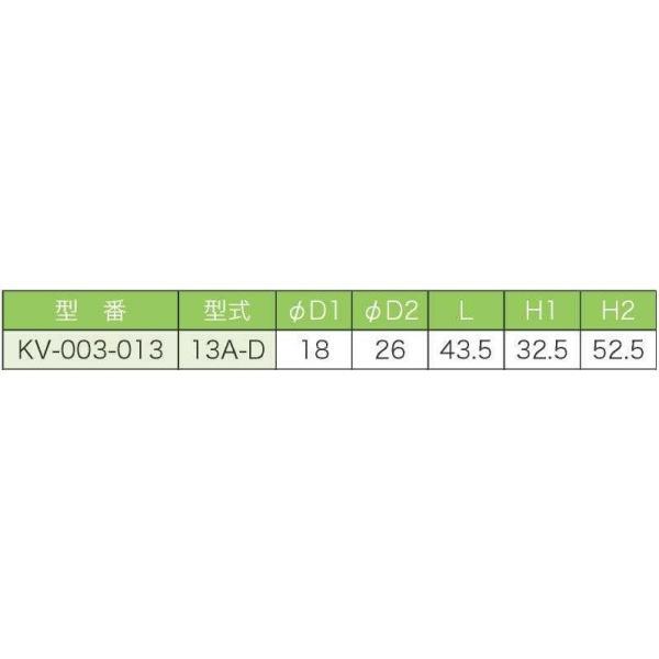 バルブ ブロワ リニアコック L型 13A-D (赤) 風量調整 目盛つき 関西化工|kansaikako|03