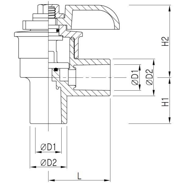 バルブ ブロワ リニアコック L型 13A-D (赤) 風量調整 目盛つき 関西化工|kansaikako|04