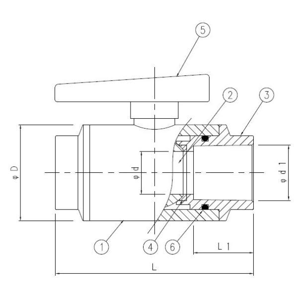 バルブ ポンプ コンパクトボールバルブ ねじ式 30A 関西化工|kansaikako|03
