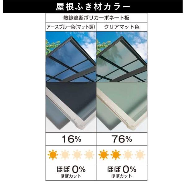 サイクルポート レイナポートグランミニ 基本 29-21 熱線遮断屋根仕様 H1906 ykkapエクステリア kantoh-house 04