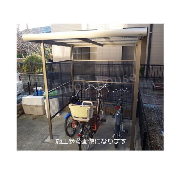 サイクルポート 自転車置き場 屋根 プチヤード PY1018 波板付きセット 本体レトログレー|kantoh-house|03