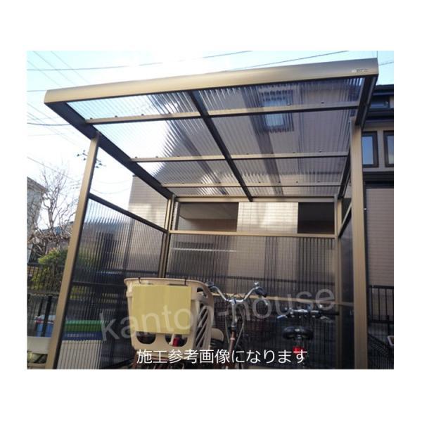 サイクルポート 自転車置き場 屋根 プチヤード PY1018 波板付きセット 本体レトログレー|kantoh-house|04