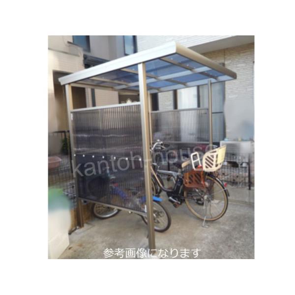 サイクルポート 自転車置き場 屋根 プチヤード PY1018 波板付きセット 本体レトログレー|kantoh-house|05