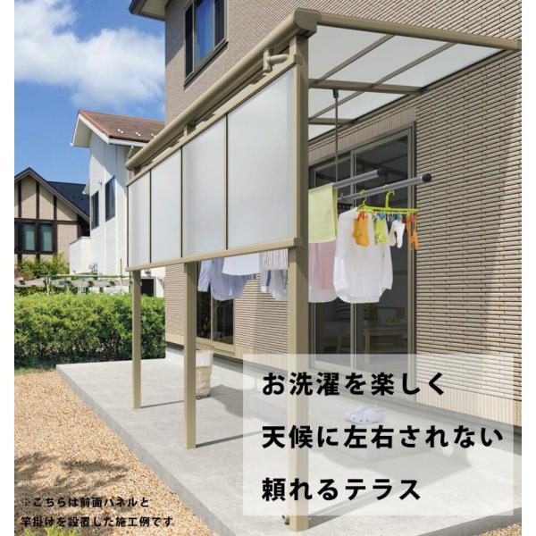 テラス屋根 レボリューA TF1NA型 2.0間×7尺標準納まり フラット型 ポリカーボネート 屋根 雨・紫外線からガード 地域限定送料無料 三協アルミ|kantoh-house|02