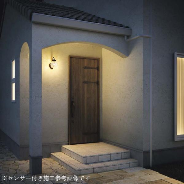 玄関照明 LED照明 アンティーク風ひび焼きガラス LED交換可能 人感センサ付 ポーチライト 外灯 LED おしゃれ ブラケット 壁掛け かわいい 在庫あり あすつく|kantoh-house|02