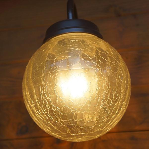 玄関照明 LED照明 アンティーク風ひび焼きガラス LED交換可能 人感センサ付 ポーチライト 外灯 LED おしゃれ ブラケット 壁掛け かわいい 在庫あり あすつく|kantoh-house|07