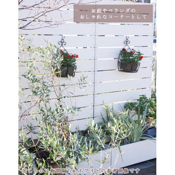 フェンス ガーデンフェンス プランター付きフェンス 目隠し おしゃれフェンス ガーデニング 木目調 樹脂製 高さ180cm×幅90cm 板間隔1cm 連結使用可能|kantoh-house|04