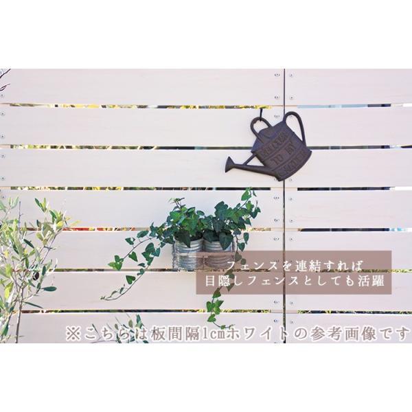 フェンス ガーデンフェンス プランター付きフェンス 目隠し おしゃれフェンス ガーデニング 木目調 樹脂製 高さ180cm×幅90cm 板間隔1cm 連結使用可能|kantoh-house|06