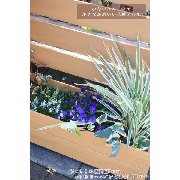 フェンス ガーデンフェンス プランター付きフェンス 目隠し おしゃれフェンス ガーデニング 木目調 樹脂製 高さ120cm×幅90cm 板間隔3cm 連結使用可能|kantoh-house|05