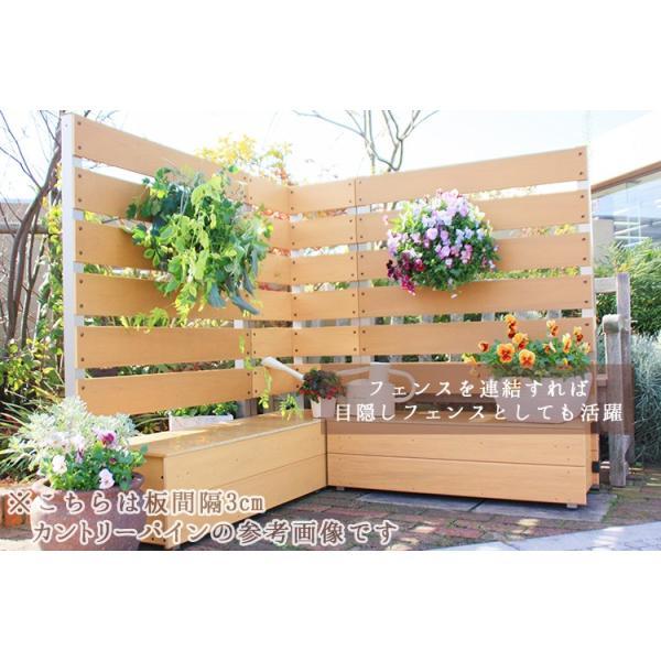 フェンス ガーデンフェンス プランター付きフェンス 目隠し おしゃれフェンス ガーデニング 木目調 樹脂製 高さ150cm×幅90cm 板間隔3cm 連結使用可能|kantoh-house|06