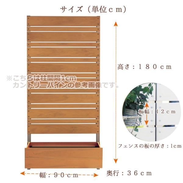 フェンス ガーデン プランター付きフェンス 目隠し おしゃれフェンス ガーデニング 木目調 樹脂製 高さ180cm×幅90cm マルチボーダー 板間隔1cm 連結使用可能 kantoh-house 03