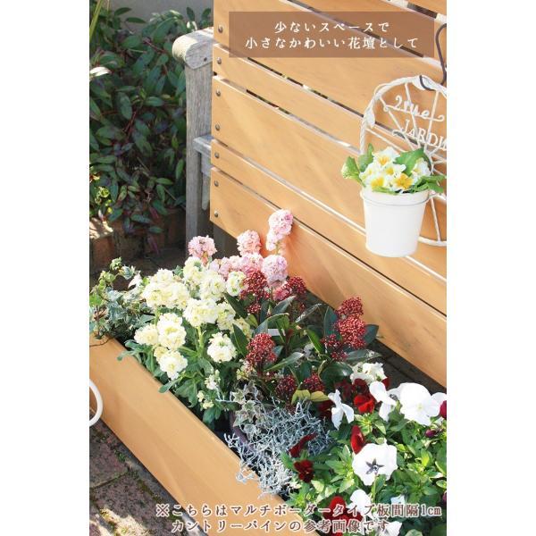 フェンス ガーデン プランター付きフェンス 目隠し おしゃれフェンス ガーデニング 木目調 樹脂製 高さ180cm×幅90cm マルチボーダー 板間隔1cm 連結使用可能 kantoh-house 05
