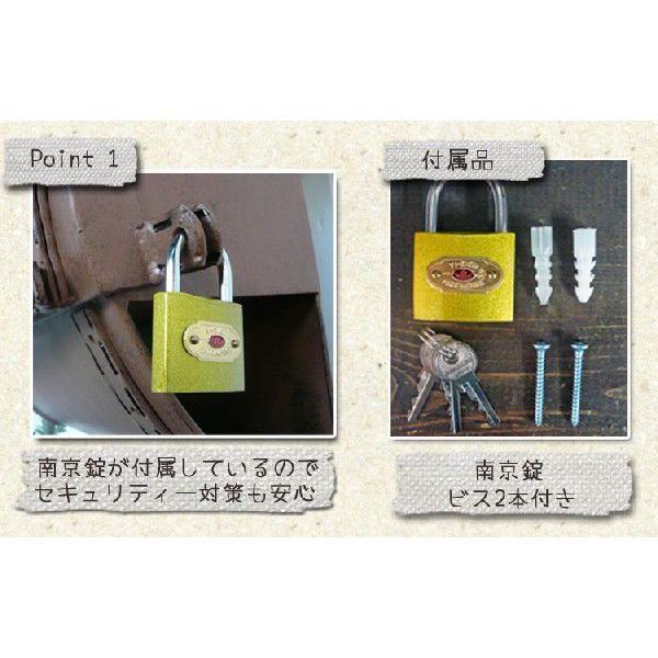 ポスト 郵便ポスト 壁掛けポスト おしゃれ ブラウン 鍵付き|kantoh-house|03