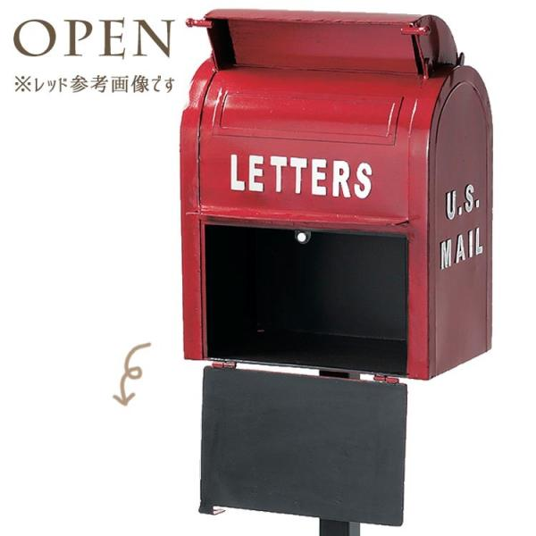 ポスト 郵便ポスト スタンド型ポスト アメリカン アンティーク  ボックス  郵便受け メールボックス グリーン 緑|kantoh-house|04