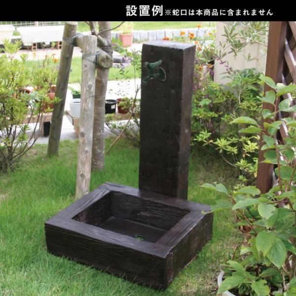 水栓柱カバー 立水栓 水栓柱 かぶせるだけの工事不要水道カバー 木質調 枕木風|kantoh-house|03
