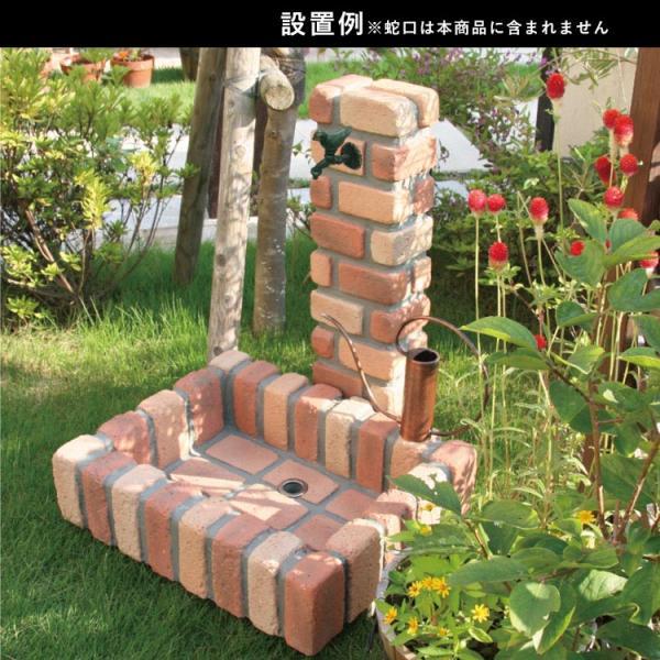 水栓柱カバー 立水栓 水栓柱 かぶせるだけの工事不要水道カバー レンガ風 kantoh-house 02