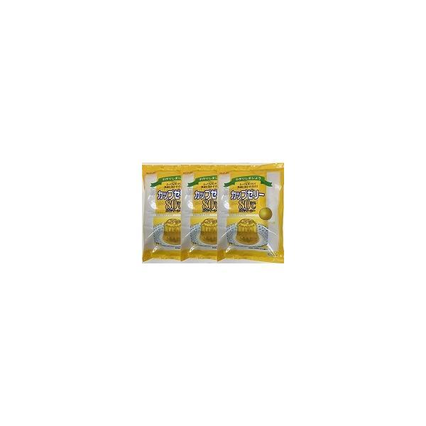 かんてんぱぱ カップゼリー80℃グレープフルーツ味(約6人分X5袋入)X3個セット(4901138882925-3)