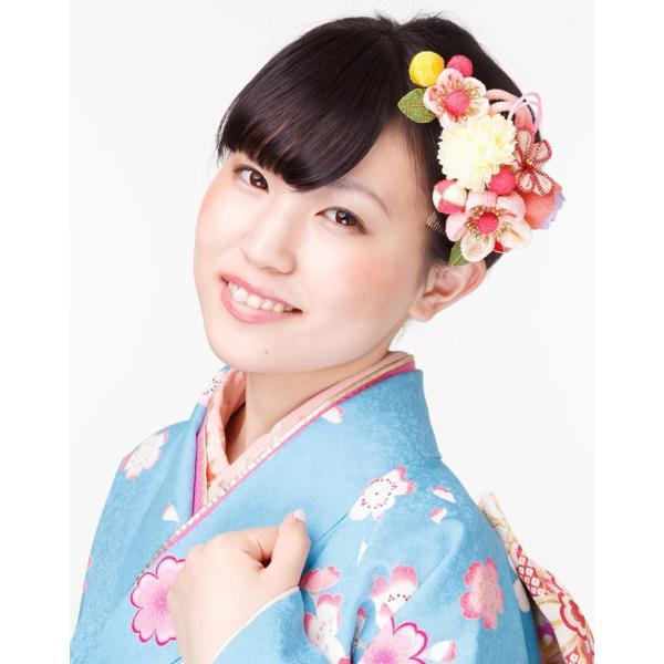 卒業式 袴 髪飾り 成人式 髪飾り ピンク 振袖 成人式 髪飾り 和装 着物 花 髪飾り セット ちりめん つまみ 日本製 kanzashi 04