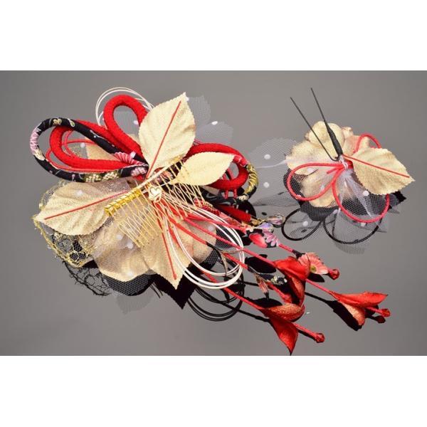 花かんざしセット 286215r かんざし2点セット 赤 レッド 成人式 振袖 髪飾り 成人式 髪飾り 結婚式 和服 和装 着物 浴衣 kanzashi 04