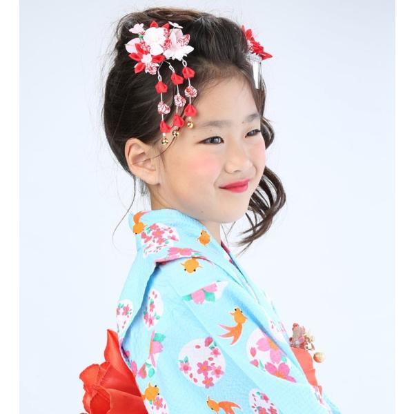 七五三 髪飾り 2点セット 715015 つまみ細工赤 レッド 753 通販 女の子 女児 こども 子供 キッズ kanzashi 05
