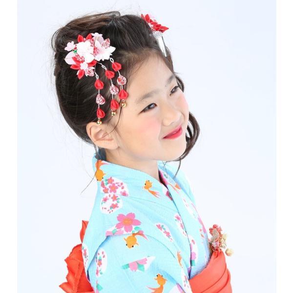 七五三 髪飾り 2点セット 715015 つまみ細工赤 レッド 753 通販 女の子 女児 こども 子供 キッズ kanzashi 06