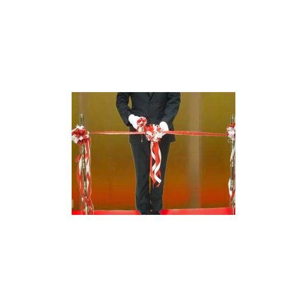 テープカット用 紅白リボン花|kaodo|04