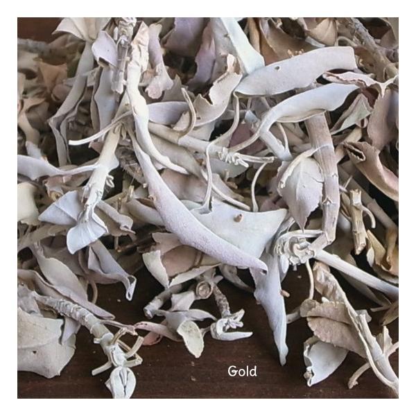 ホワイトセージ 浄化 無農薬 ゴールド ルーズリーフ100g|kaori-market|04
