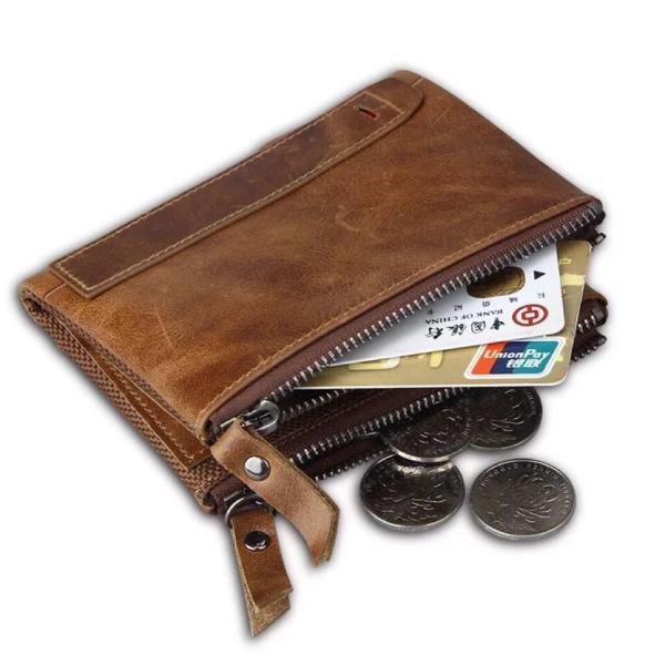 8f1ae9e8f27a ... 本革 財布 牛革 2つ折り メンズ 折り財布 小銭入れ カード収納 レザー スキミング防止
