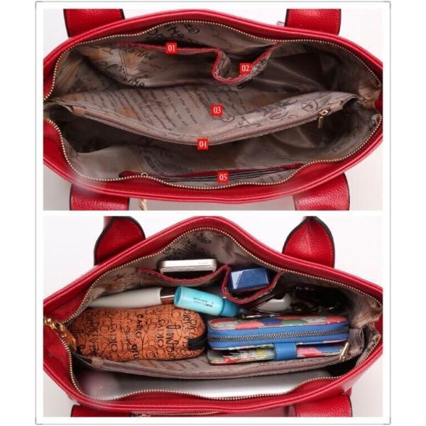 レディースハンドバッグ  女性 ショルダーバッグ 鞄 トート フォーマル カジュアル 通勤 通学 バッグ 斜め掛け バッグ|kaoru-shop|05