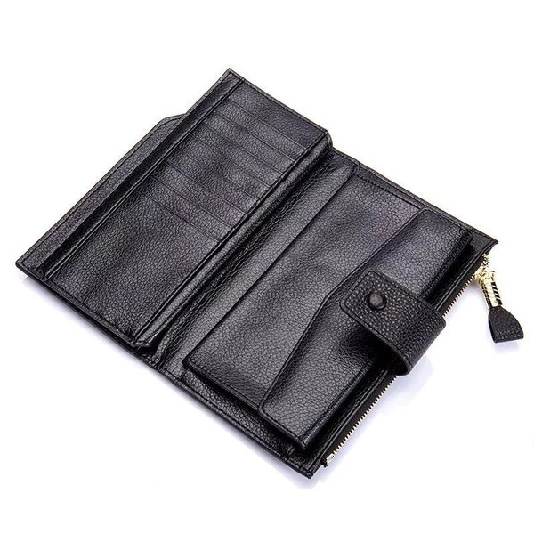 1b20f02139f3 ... 本革 長財布 カード収納 レザー サイフ ウォレット 革 レザー カード入れ 多い 小銭 お札 ...