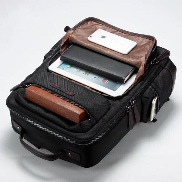 ビジネスリュック ビジネスバッグ メンズ 鞄 男性 通勤 出張 リュックサック 革 バッグ フォーマル カジュアル|kaoru-shop|04