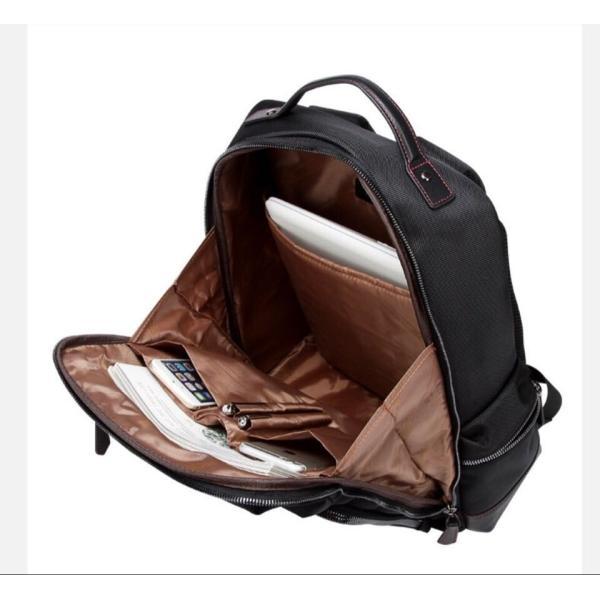 ビジネスリュック ビジネスバッグ メンズ 鞄 男性 通勤 出張 リュックサック 革 バッグ フォーマル カジュアル|kaoru-shop|05