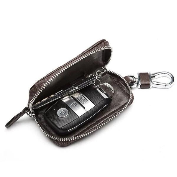 新商品セール!キーケース スマートキー 革 編み キュート 風 メンズ 車キー 家の鍵 自転車鍵 電子キー カード、 軽量 男女兼用 キー収納|kaoru-shop|02