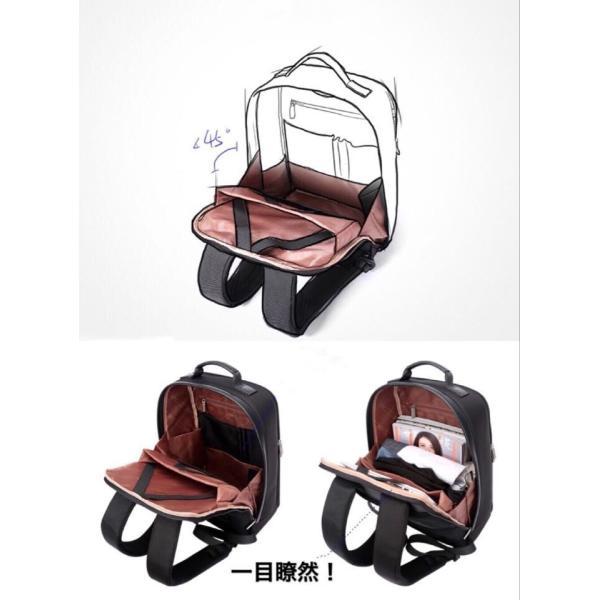 ビジネスリュック ビジネスバッグ 充電 メンズ 鞄 男性 通勤 出張 リュックサック 革 バッグ フォーマル カジュアル|kaoru-shop|05