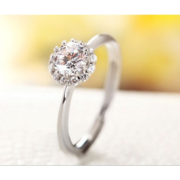 新商品!レディース  リング シルバー指輪 シルバーリング  一粒 大人の輝き 女性 彼女 指輪レディース アクセサリー ジルコニア 925純銀 プラチナ|kaoru-shop