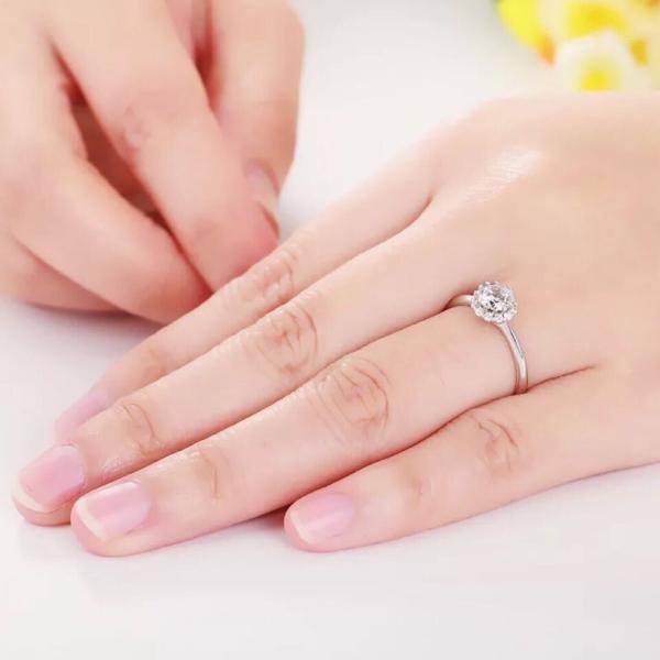 新商品!レディース  リング シルバー指輪 シルバーリング  一粒 大人の輝き 女性 彼女 指輪レディース アクセサリー ジルコニア 925純銀 プラチナ|kaoru-shop|02