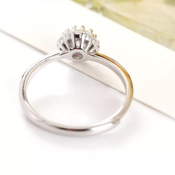 新商品!レディース  リング シルバー指輪 シルバーリング  一粒 大人の輝き 女性 彼女 指輪レディース アクセサリー ジルコニア 925純銀 プラチナ|kaoru-shop|04