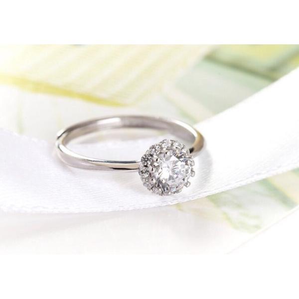 新商品!レディース  リング シルバー指輪 シルバーリング  一粒 大人の輝き 女性 彼女 指輪レディース アクセサリー ジルコニア 925純銀 プラチナ|kaoru-shop|05
