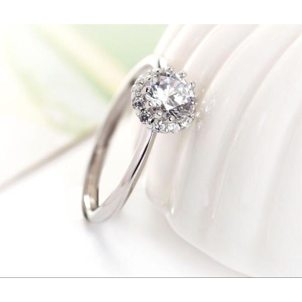 新商品!レディース  リング シルバー指輪 シルバーリング  一粒 大人の輝き 女性 彼女 指輪レディース アクセサリー ジルコニア 925純銀 プラチナ|kaoru-shop|06