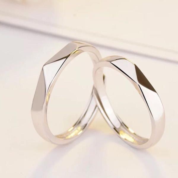 新商品セール!!ペアリング 純銀925 リング 2点セット シルバー  誕生日プレゼント 男性/女性 マリッジリング 結婚指輪 ペア  記念日 プレゼント シルバー|kaoru-shop|02