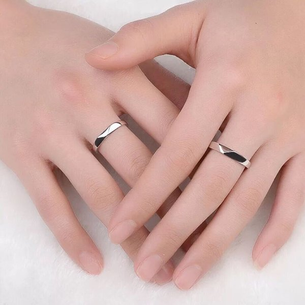 新商品セール!!ペアリング 純銀925 リング 2点セット シルバー  誕生日プレゼント 男性/女性 マリッジリング 結婚指輪 ペア  記念日 プレゼント シルバー|kaoru-shop|05