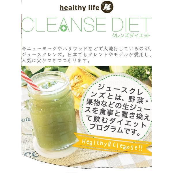 ダイエット ダイエットドリンク 低糖質 healthylife クレンズダイエット(全6種類)(メール便対応) クレンズ 食物繊維 低カロリー リコピン カロテン|kaoru-shop|02
