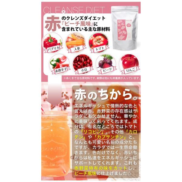 ダイエット ダイエットドリンク 低糖質 healthylife クレンズダイエット(全6種類)(メール便対応) クレンズ 食物繊維 低カロリー リコピン カロテン|kaoru-shop|07