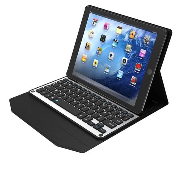 iPad PRO9.7inch専用 超薄型Bluetooth接続キーボードケース 内蔵アルミキーボード スタンド カバー タブレットキーボード Bluetooth  98050007