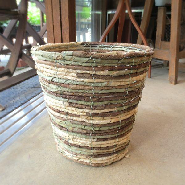 バスケット鉢カバー(迷彩)7号鉢サイズ 観葉植物 花鉢 プレゼント ギフト 誕生日 開店祝い 鉢かご 鉢カゴ