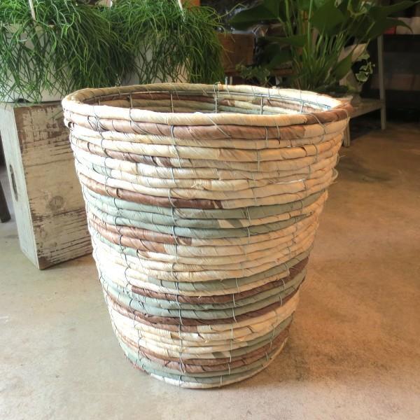RoomClip商品情報 - バスケット鉢カバー(迷彩)8号鉢サイズ 観葉植物 花鉢 プレゼント ギフト 誕生日 開店祝い 鉢かご 鉢カゴ