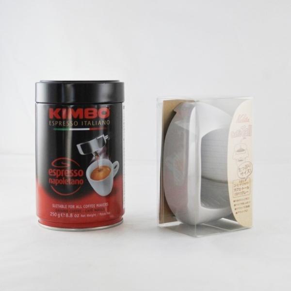 送料無料 一部地域を除く 訳あり 3個セット 賞味期限間近:2020年4月23日 キンボ エスプレッソ粉 ナポレターノ 缶 250g×3 Kalitaカフェ・トール 3個付|kappa-chianti|04