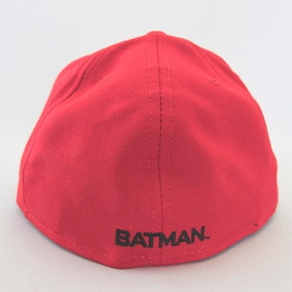ニューエラ NEWERA xバットマンコラボ BATMAN BATロゴ 59FIFTY レッド ビンテージ|kappacraft|02