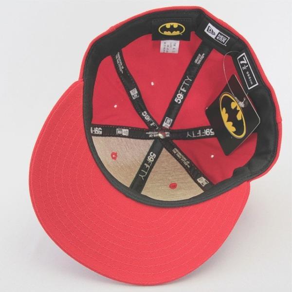 ニューエラ NEWERA xバットマンコラボ BATMAN BATロゴ 59FIFTY レッド ビンテージ|kappacraft|04