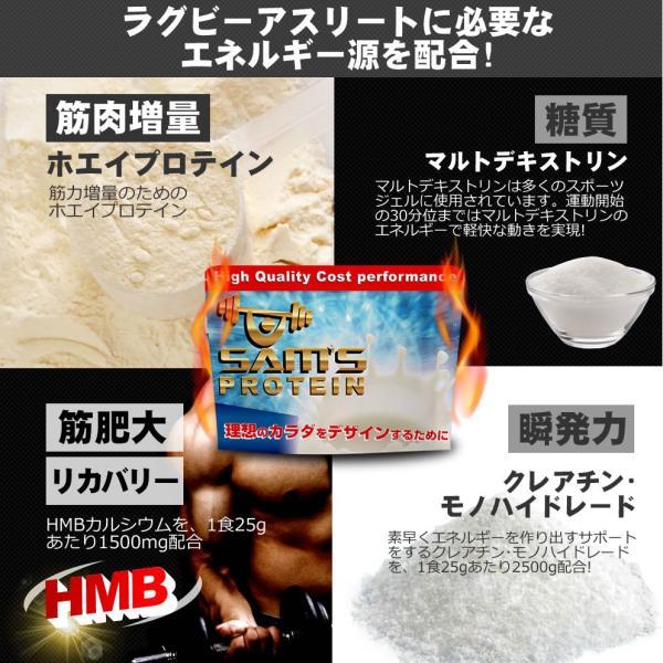 サムズ プロテイン アスリート ラグビー パワー プロテイン UP 3kg(約120回分)  リッチココア味/ミックスフルーツ味|karada-design|02